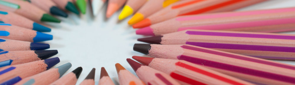 BELC header image of colored pencils in a circle
