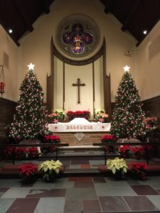 Bethel Lutheran Church decorated for Christmas Service